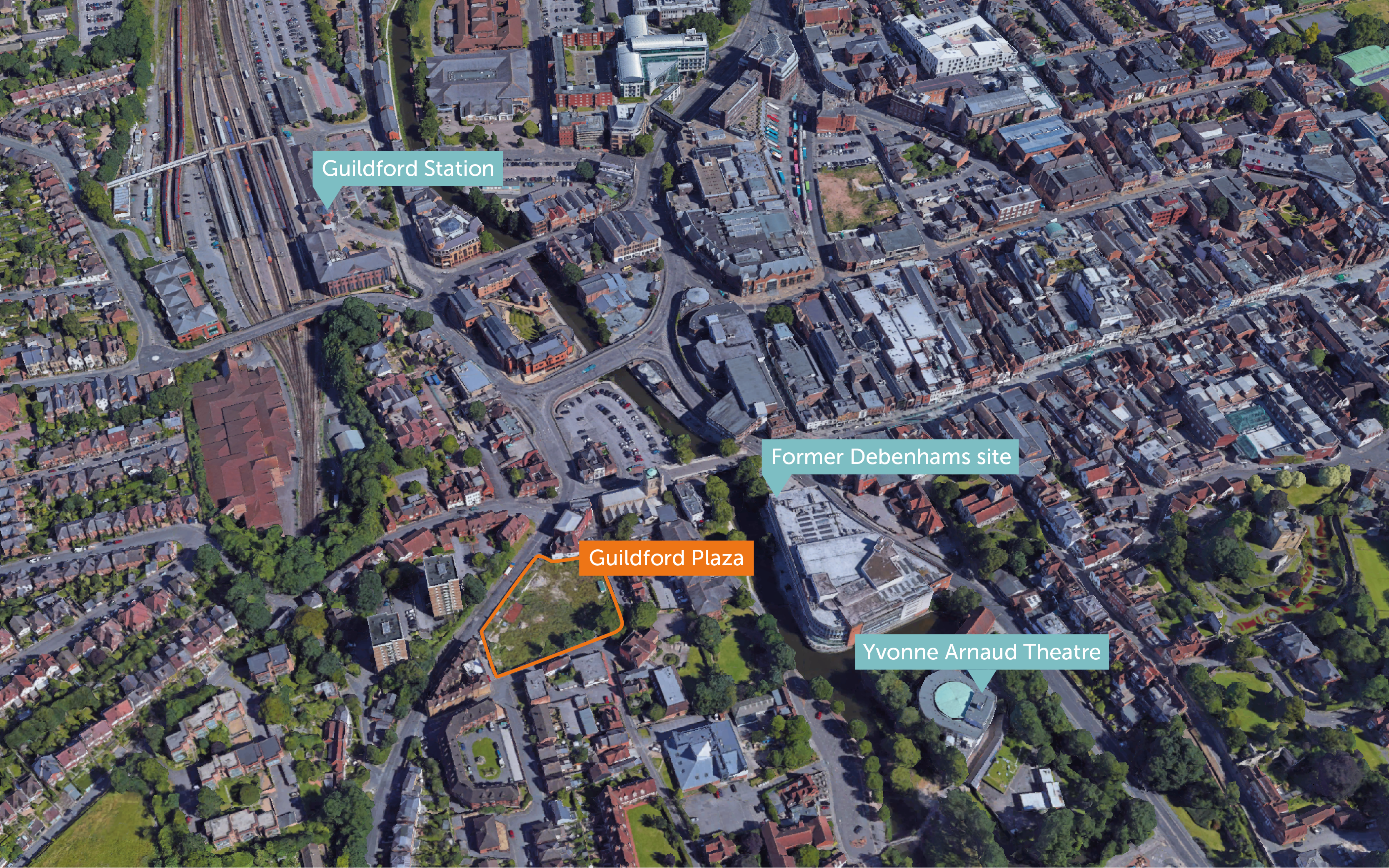 Site map of Guildford Plaza